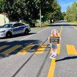 Des silhouettes d'enfants pour faire ralentir!